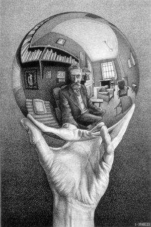 hand-with-reflecting-sphere-mc-escher-1935